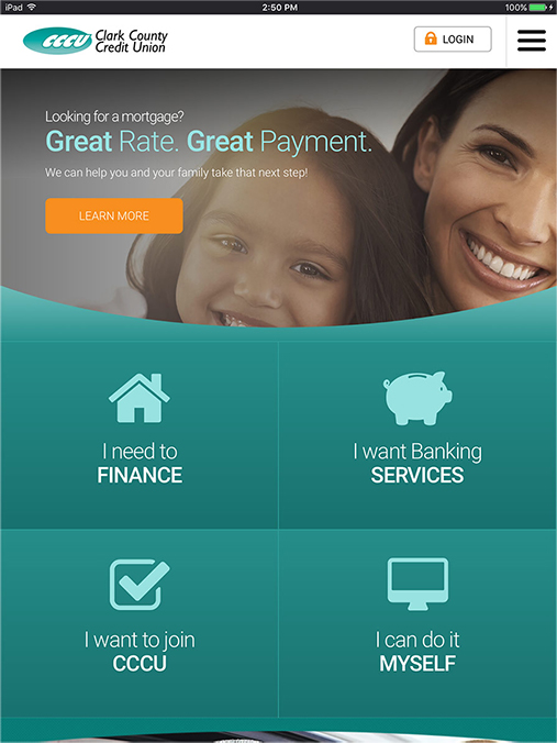Tablet View - Clark County Credit Union, Las Vegas Nevada